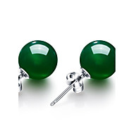 cheap -Women's Synthetic Emerald Emerald Stud Earrings - Circular / Vintage / Fashion Green Circle Earrings For Wedding / Party / Anniversary
