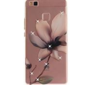 Для huawei p8 p9 корпус крышка магнолия цветок узор hd покрашенное сверло tpu материал imd процесс высокое проникновение телефон дело p10