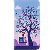 Недорогие -Для iphone 7plus 7 phone case pu кожаный материал 2 совы узор окрашенный корпус телефона 6s плюс 6plus 6s 6 se 5s 5