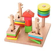 Puzzle di legno per il regalo Costruzioni Lengo naturale 3-6 anni Giocattoli
