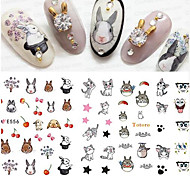 5 Nail Art Sticker  Pattern Accessories Grooming Surface Mounted Art Deco/Retro Water Transfer Sticker Water Transfer Decals Cartoon 3-D