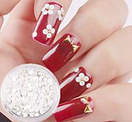2g White Roundness Paillette Nail Art Decorations