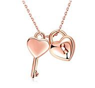 Women's Girls' Choker Necklaces Pendant Necklaces Chain Necklaces Heart Alloy Basic Unique Design Dangling Style Pendant Love Heart