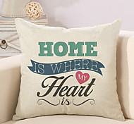 cheap -1 Pcs Home Is Where My Heart Quotes & Sayings Pillow Cover Cotton/Linen 45*45Cm Pillow Case