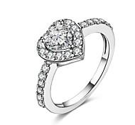 abordables -Mujer Anillo Circonita Personalizado Geométrico Diseño Único Clásico Vintage Diamante de imitación Bohemio Básico Corazón Naturaleza