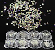 1 Bottle Fashion SS3-SS20 Nail Art DIY Beauty Shining Rhinestones Nail Art Crystal AB Rhinestones Glitter Design 3D Shining Decoration