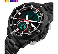 Men's Wrist watch Dress Watch Smart Watch Fashion Watch Chinese Digital Calendar Chronograph Noctilucent Large Dial Dual Time Zones