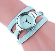 cheap -Women's Bracelet Watch Quartz Colorful Leather Band Casual Black White Red Brown Beige Navy Rose