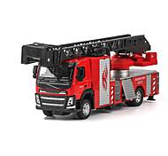 Недорогие -Игрушечные машинки Модель авто Пожарная машина Игрушки моделирование Корабль Грузовик Пожарные машины Металл Сплав металла Куски