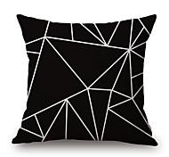 cheap -1 Pcs Black Color Irregular Geometry Pillow Case 45*45Cm Sofa Cushion Cover Creative Pillow Cover