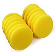 ZIQIAO 12 pcs/set Car Wax Sponge Automobile Cleaning Tool Car Care Yellow Anti-Scratch Applicator Pads Tyre Dressing Foam
