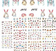 cheap -11Design/pcs New Fashion Lovely Cartoon Design Nail Art DIY Beauty 3D Sticker Cute Animal Rabbit Cat Creative Design Decoration E589-599