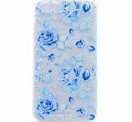 For Wiko Lenny 3 Lenny 2 Case Cover Translucent Pattern Back Cover Case Blue Rose Soft TPU Case For Wiko Jerry U FEEL U FEEL LITE