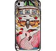 Случай для яблока iphone7 7 плюс цветок бабочки животное шаблон жесткий компьютер для iphone 6s плюс 6 плюс 6s 6