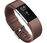 cheap -Watch Band for Fitbit Charge 2 Fitbit Sport Band Fluoroelastomer Wrist Strap