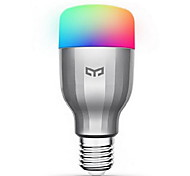 cheap -Xiaomi 1pc 9W 600lm E26 / E27 LED Smart Bulbs 19 LED Beads SMD Works With Amazon Alexa Google Home Warm White Cold White RGB 220-240V