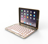 cheap -Bluetooth 3.0 Keyboard Case For iPad mini 4 Seven Colorful Backlit Aluminum for iPad mini123 mini4 Gold/Rose gold/Sliver