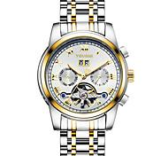 Недорогие -Муж. Спортивные часы Часы со скелетом Модные часы Механические часы С автоподзаводом Календарь Защита от влаги Светящийся Фосфоресцирующий