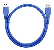 abordables -USB 3.0 Cable de extensión, USB 3.0 to USB 3.0 Cable de extensión Macho - Hembra 0,6 m (2Ft)