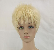 cheap -Synthetic Wig Curly Pixie Cut Blonde Women's Capless Natural Wigs Short Synthetic Hair