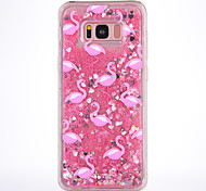 Case For Samsung Galaxy S8 S8 Plus Case Cover Pink Flamingo Pattern TPU Material Full Soft Love Flash Powder Quicksand Phone Case For S7 S7 Edge