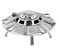 Недорогие -3D пазлы Пазлы Металлические пазлы Наборы для моделирования Игрушки Космический корабль 3D Своими руками Нержавеющая сталь Хром Металл Не