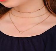 Недорогие -Жен. Ожерелья-бархатки Ожерелья с подвесками Ожерелья-цепочки Бижутерия На заказ В виде подвески Мода Euramerican Повседневные Одежда для