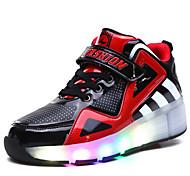 Детские Мальчики Обувь для скейтбординга LED подсветка Дышащий Регулируется Синий/Белый/Черный/Красный