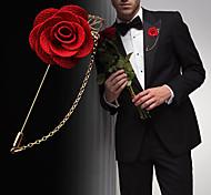 Муж. Жен. Броши Цветочный дизайн Цветы Цветочный принт Мода Euramerican Искусственные цветы Смешанные материалы Сплав В форме цветка В