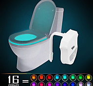 cheap -HKV® 1PCS  IP65 16 Colors Motion Activated Toilet Night light Fit Any Toilet-Water-resistant Bathroom Night Light Easy Clean -For Midnight Convenie