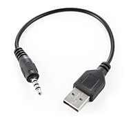 abordables -3.5mm macho a usb adaptador de audio macho cable aux negro 20cm de alta calidad, durable