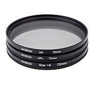Andoer 72mm набор фильтров uv cpl star 8-точечный набор фильтров с футляром для камеры canon nikon sony dslr