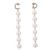 cheap -Women's Imitation Pearl Drop Earrings - Unique Design Dangling Style Gold Earrings For Party Birthday Party Evening Office / Career