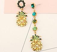 Drop Earrings Women's Euramerican Elegant Luxury Rhinestone Pineapple for Daily Party  Gift Movie Jewelry