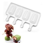 4 Cavities MiniPopsicle Cake Mold Icecream Fresh Style Cake Decoration