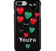 Cassa per appleiphone 7 plus / 7 copertura posteriore modello caso parola / frase cuore hard pc iphone 6s plus / 6 plus / 6s / 6