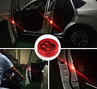 cheap -1PCS Car LED Light Door Logo Anti Collision Warning Magnetic Flashing Strobe Lights Signal Lamps for Cars Bulbs Lamp Auto Accessories