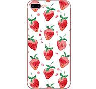 Случай для яблока iphone 7 7 плюс крышка случая клубника шаблон hd покрашенный tpu материал мягкий случай случай телефона для iphone 6s 6