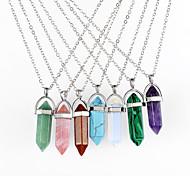 Women's Pendant Necklaces Chain Necklaces Crystal Geometric Bullet Chrome Dangling Style Pendant Geometric Fashion Bohemian Personalized