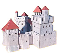 cheap -3D Puzzles Paper Model Paper Craft Model Building Kit Castle Famous buildings House Architecture 3D DIY Classic Unisex Gift