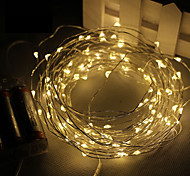 cheap -3m String Lights 30 SMD LEDs Warm White White Pink Purple Green Yellow Blue Red Waterproof 4.5V