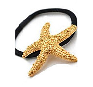 cheap -Hair Ties Golden Starfish Hair Bands Korea Headdress Girl Hair Jewelry Gift Beach