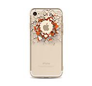 Недорогие -Кейс для Назначение Apple iPhone X iPhone 8 Plus Прозрачный С узором Задняя крышка Композиция с логотипом Apple 3D в мультяшном стиле