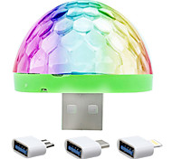 cheap -YWXLight® YWXLight® 5W Mobile Phone USB Stage Light DJ Lamp LED Voice Colorful Ball Mini Disco Light Sound Control
