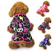 Katze Hund Mäntel T-shirt Pullover Hundekleidung Party Lässig/Alltäglich warm halten Herzen Schwarz Fuchsia Blau