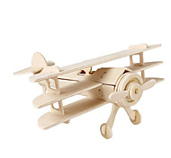 cheap -3D Puzzle Jigsaw Puzzle Wood Model Plane / Aircraft Fighter Aircraft Famous buildings DIY Wood Classic Kid's Unisex Gift