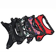 Dog Harness Anti-Slip Portable Safety Solid Camouflage Color Flag Nylon Black Dark Blue Red Camouflage Color