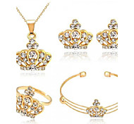 cheap -Women's Jewelry Set - Crown Fashion, Euramerican Include Gold For Party / Daily