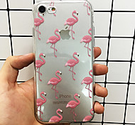 baratos -Capinha Para Apple iPhone X iPhone 8 Capinha iPhone 5 iPhone 6 iPhone 6 Plus iPhone 7 Plus iPhone 7 Ultra-Fina Translúcido Capa traseira