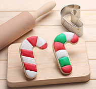 Candy Cane Cookies Cutter Stainless Steel Biscuit Cake Mold Metal Kitchen Fondant Baking Tools